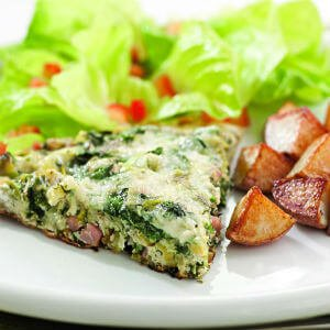 Green Eggs And Ham Frittata