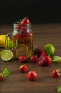 Strawberry Infused Detox Water