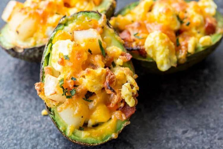 Breakfast Stuffed Avocados Min