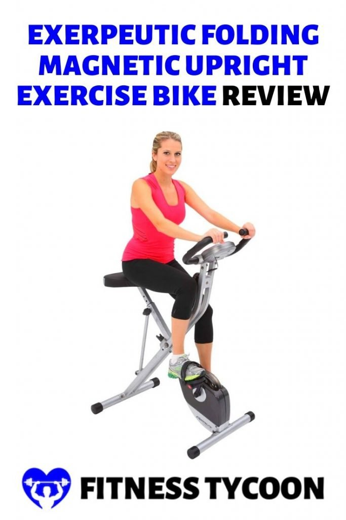 Exerpeutic Folding Magnetic Upright Exercise Bike With Pulse Pinterest Image